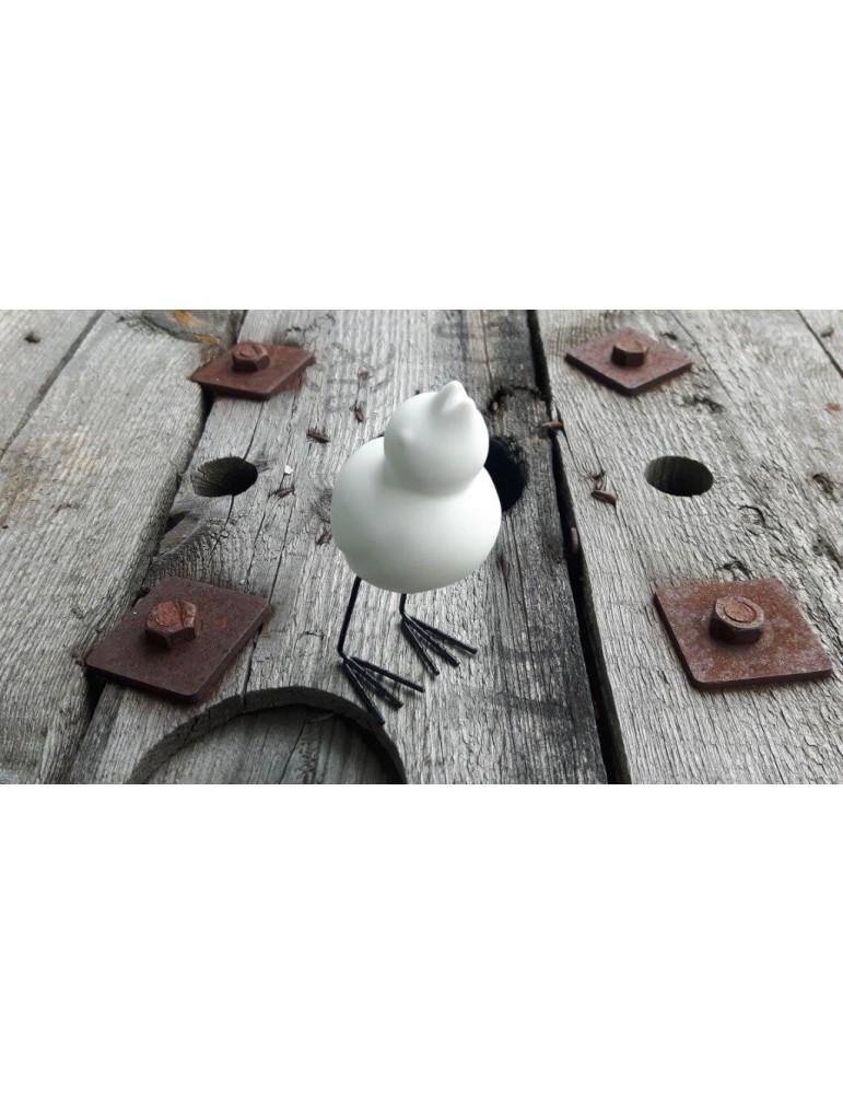 Bob Vogel Vögel weiß white schwarz Keramik Metall stehend