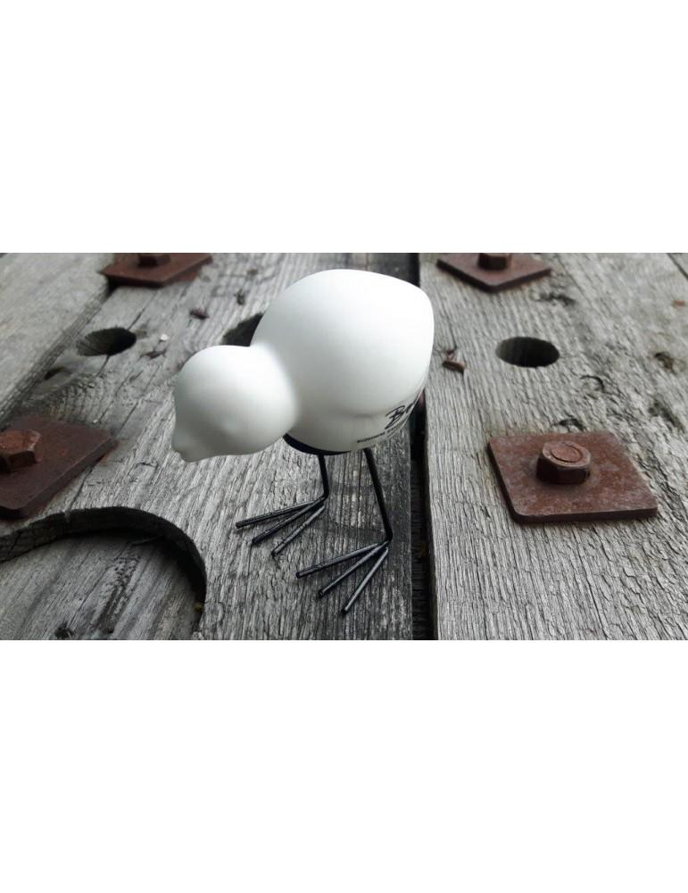 Bob Vogel Vögel weiß white schwarz Keramik Metall pickend