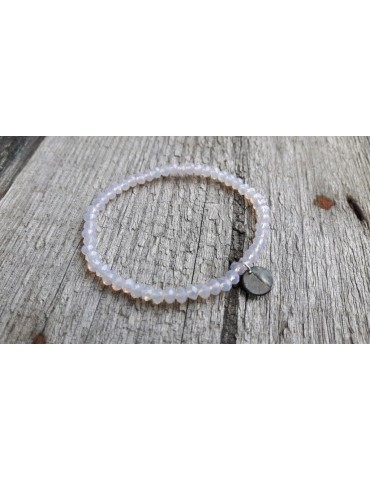 Armband Kristallarmband Perlen rose grau klar klein Glitzer Schimmer elastisch