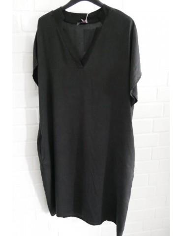 Damen Tunika Kleid schwarz black Tencel Viskose Onesize ca. 38 - 44 Made in Italy