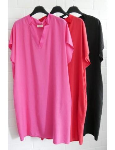 Damen Tunika Kleid pink...