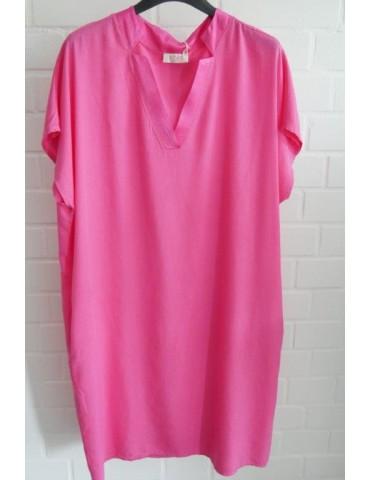Damen Tunika Kleid pink Tencel Viskose Onesize ca. 38 - 44 Made in Italy