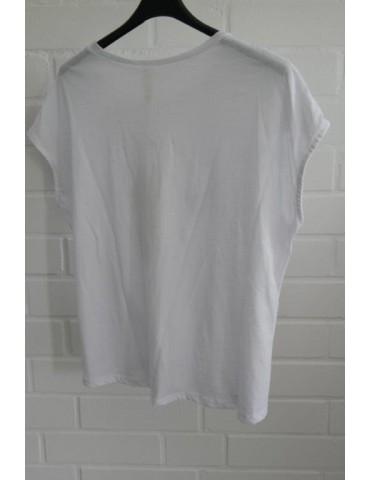 Shirt T-Shirt kurzarm weiß...