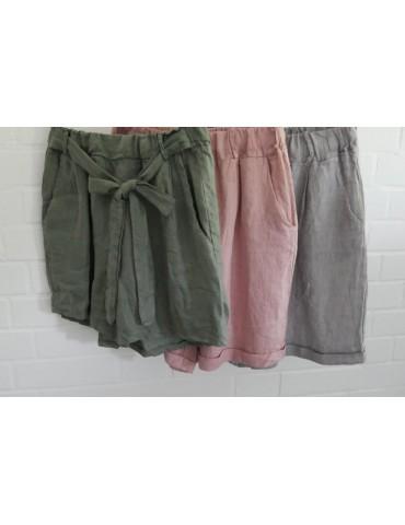 Bequeme Damen Leinen Shorts...