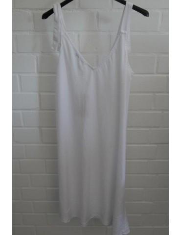 Damen Spagetti Kleid Lyocell weiß white Onesize ca. 36 - 40
