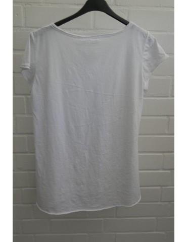 Damen Shirt kurzarm weiß...