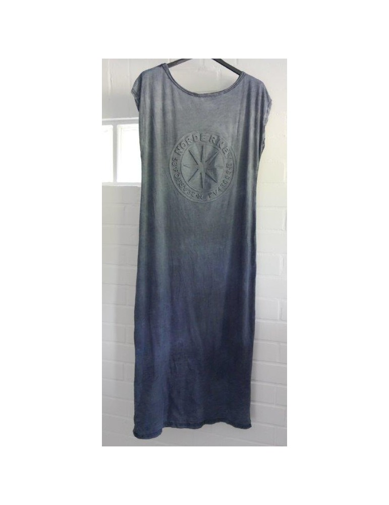 T-Shirt Kleid jeansblau Baumwolle Norderney Onesize ca. 38 - 42 Made in Italy