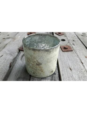 Teelicht Teelichtglas Kerze Glas gerade klein beige braun Vintage Look