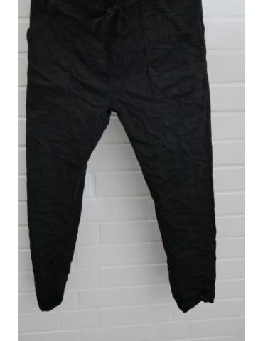 Melly & Co Jeans Hose Jogging Jogg Pants schwarz black aufgesetzte Taschen