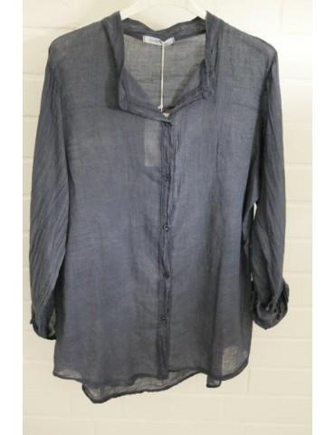 Leichte Oversize Bluse dunkelblau blau verwaschen Onesize 38 - 42