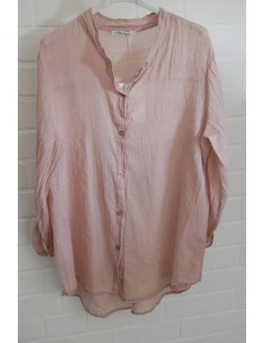 Leichte Oversize Bluse rose rosa verwaschen Onesize 38 - 42