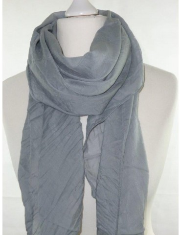 Schal Tuch Loop Made in Italy Seide Baumwolle grau uni