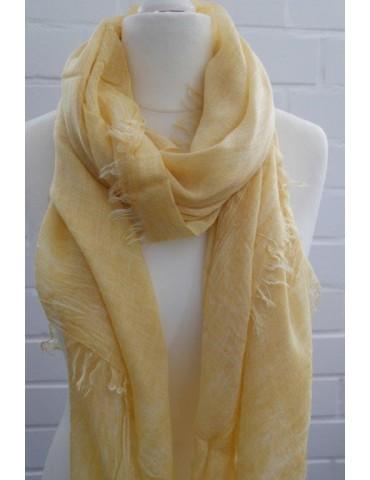 Leichter Schal Tuch Micromodal senf gelb kurkuma uni verwaschen