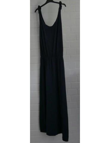 T-Shirt Träger Kleid dunkelblau marine Baumwolle Rückenfrei uni