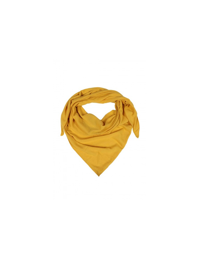 Zwillingsherz Dreieckstuch Schal Valea mit Kaschmir senf gelb uni