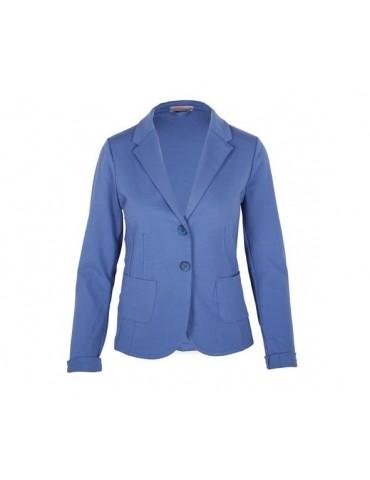 Esvivid Bequemer Sportlicher Jersey Blazer tailliert jeansblau blau uni