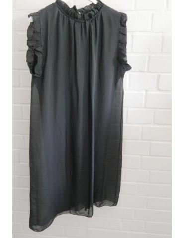 ESViViD Damen Kleid Tunika Seide anthrazit Onesize ca. 36 - 42