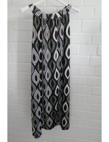 Ärmelloses Damen Kleid Tunika schwarz weiß oliv Onesize ca. 36 - 42