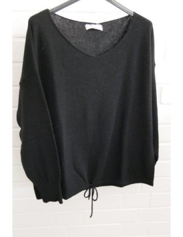 Selected Touch Damen Strick Pullover schwarz mit Kaschmir Onesize ca. 38 - 44