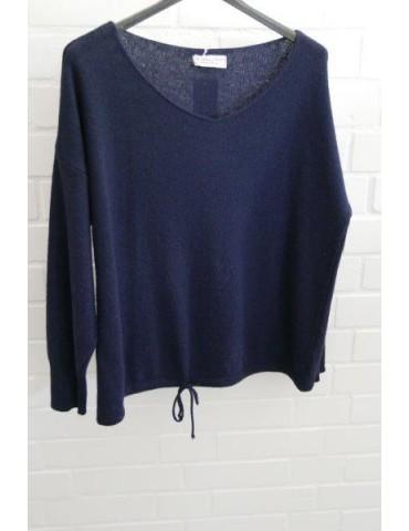 Selected Touch Damen Strick Pullover dunkelblau blau mit Kaschmir Onesize ca. 38 - 44