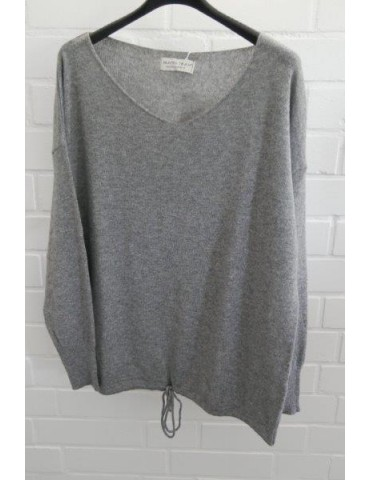 Selected Touch Damen Strick Pullover grau grey mit Kaschmir Onesize ca. 38 - 44