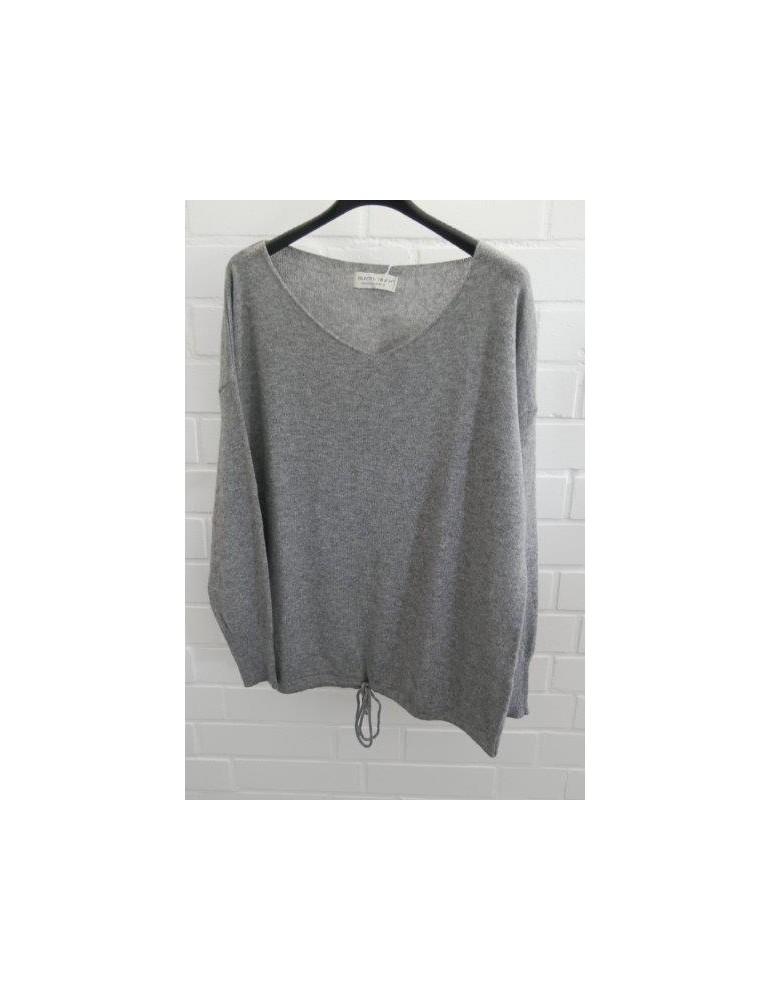 Selected Touch Damen Strick Pullover grau grey mit Kaschmir Onesize ca. 38 - 44