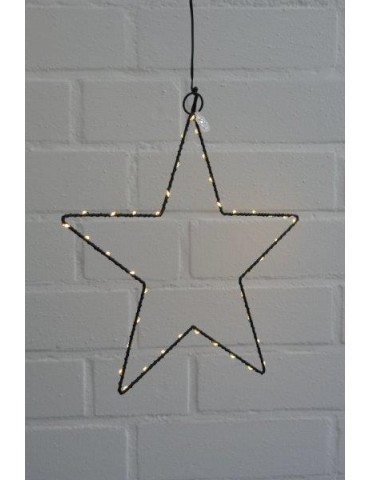 Leucht Stern Metall Fenster schwarz black Adventszeit LED