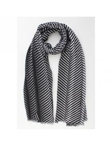Damen Schal schwarz weiß Phanatsiemuster