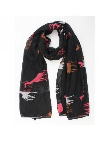 Leichter Damen Schal schwarz beere camel hellgrau Giraffen