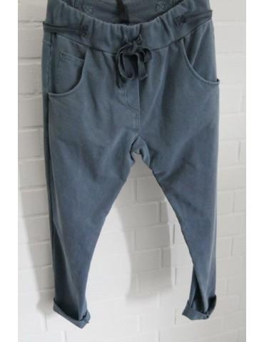 JogPants Jogginghose Damenhose Hose jeansblau verwaschen Gr. M 38 40