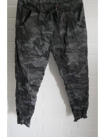 JoggPants Jogginghose Damenhose Hose anthrazit grau schwarz Camouflage Onesize 36 - 40