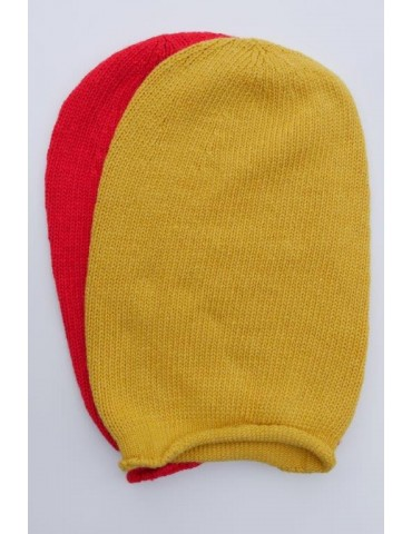 Damen Mütze Beanie rot red uni Made in Italy...