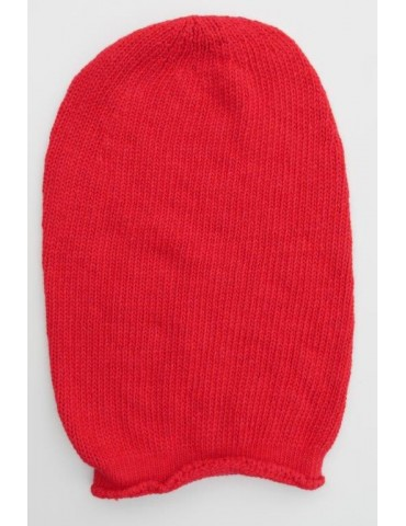 Damen Mütze Beanie rot red uni Made in Italy mit Kaschmir