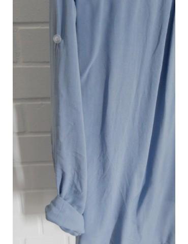 Damen Bluse Shirt jeansblau...