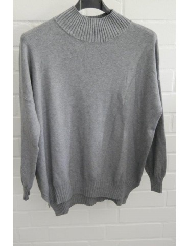 ESViViD Damen Strick Pullover grau grey Onesize ca. 38 - 44 mit Modal