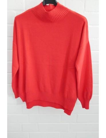 ESViViD Damen Strick Pullover rot red Onesize ca. 38 - 44 mit Modal