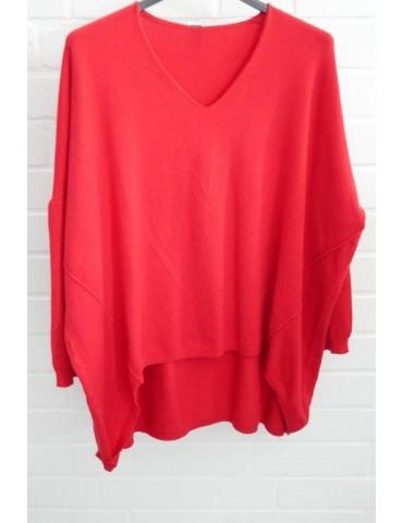 ESViViD Damen Pullover rot red Onesize ca. 38 - 46 mit Viskose 7050