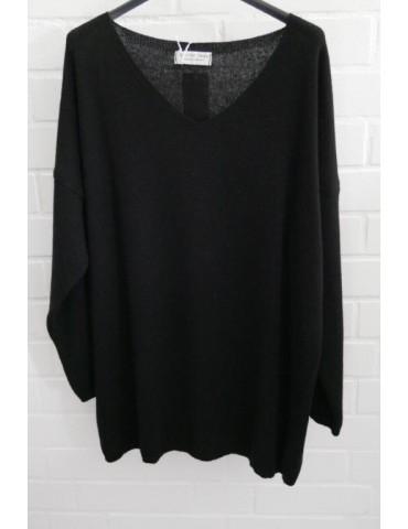 Selected Touch Damen Strick Pullover schwarz black mit Kaschmir Onesize ca. 38 - 46