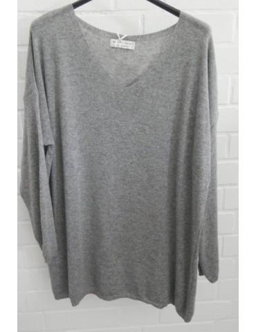 Selected Touch Damen Strick Pullover grau grey mit Kaschmir Onesize ca. 38 - 46