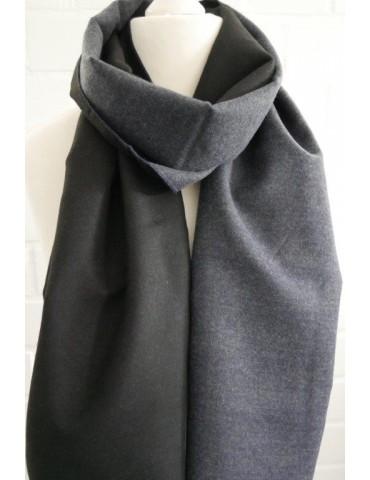 Herren Schal Tuch marine schwarz uni Viskose Wolle
