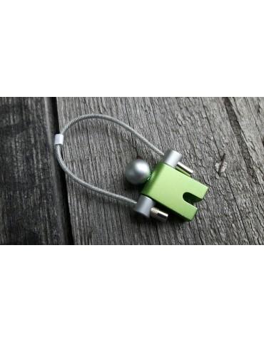 Schlüsselanhänger Anhänger Männchen grün Metall