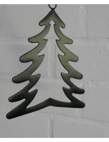 Deko Metall Weihnachtsbaum klein schwarz Adventszeit