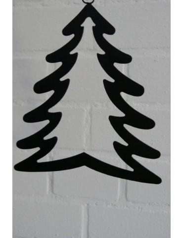 Deko Metall Weihnachtsbaum mittel schwarz Adventszeit