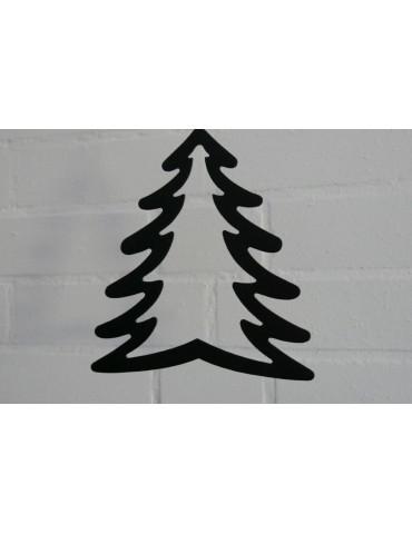Deko Metall Weihnachtsbaum groß schwarz Adventszeit
