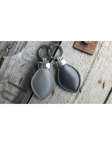 Schlüsselanhänger Anhänger grau grey Echtes...