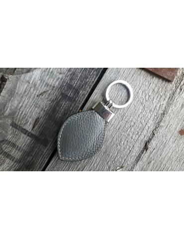 Schlüsselanhänger Anhänger grau grey Echtes Leder Tropfen