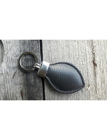 Schlüsselanhänger Anhänger schwarz black Echtes Leder Tropfen