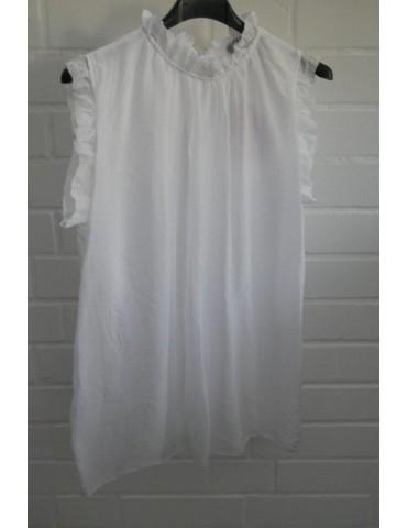 ESViViD Damen Top Shirt 2873 weiß white Seide Viskose Onesize 36 - 42