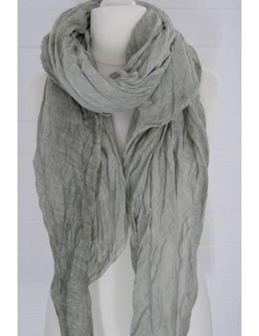 XXL Damen Schal Tuch helloliv lind grün verwaschen 100% Baumwolle Asymmetrisch