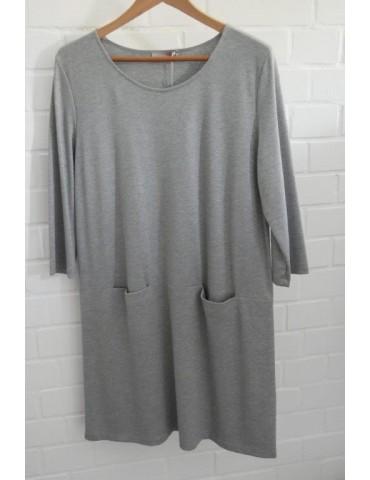 ESViViD Damen Kleid Tunika Jersey hellgrau grau meliert Gr. L ca. 40 42